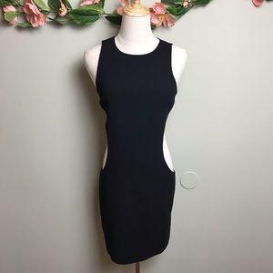 Alice + Olivia | Black Side Cutout Mini Dress XS